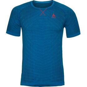 Odlo Evolution Light Blackcomb Crew Neck SS Shirt Men energy blue-blue jewel